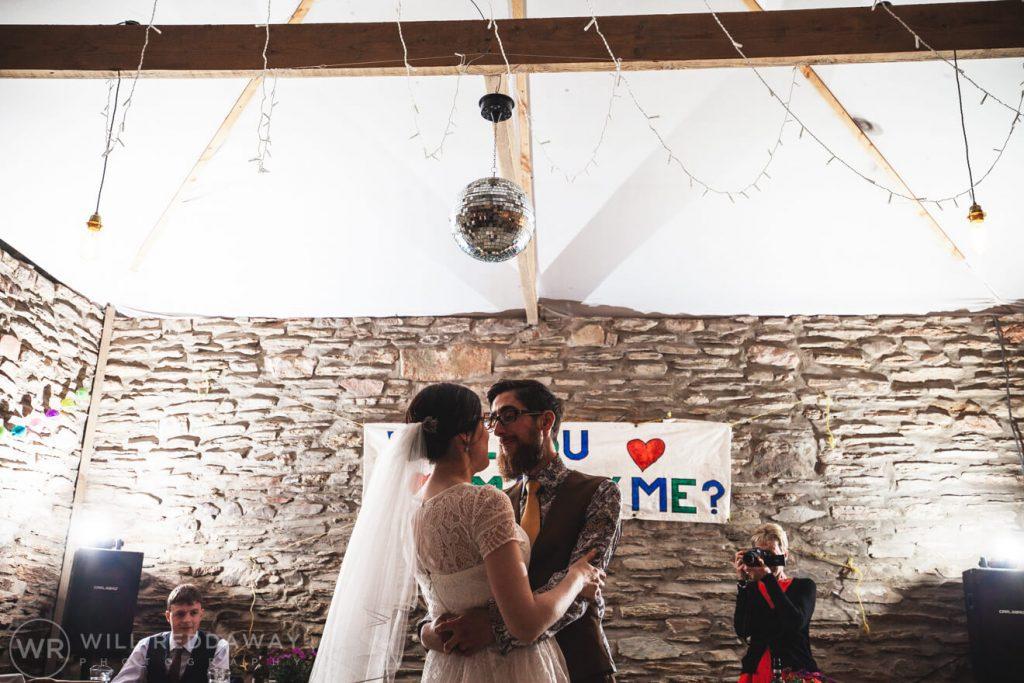 Deers Leap Retreat Wedding | Devon Wedding Photographer | First Dance