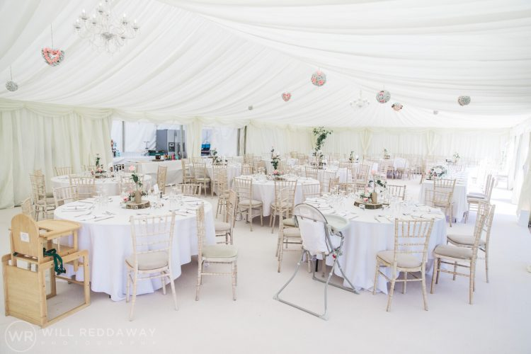Marquee Wedding | Devon Wedding Photographer | Decoration