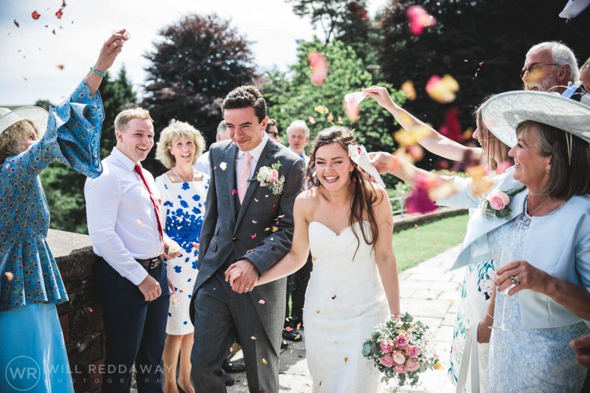 Marquee Wedding | Devon Wedding Photographer | Confetti