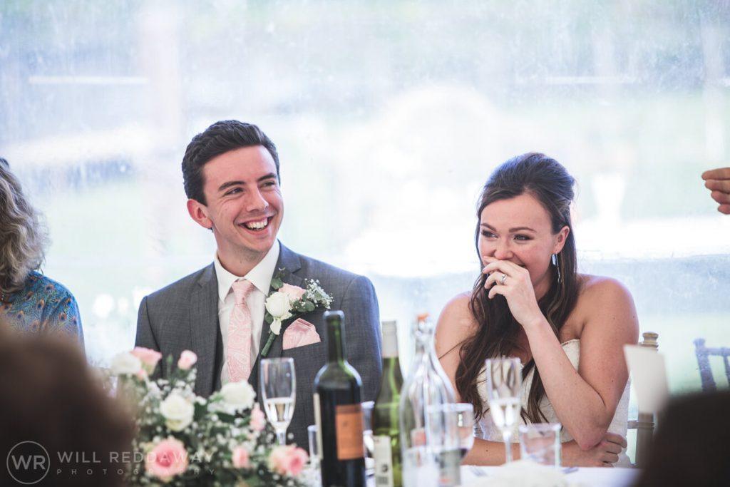 Marquee Wedding | Devon Wedding Photographer | Speeches