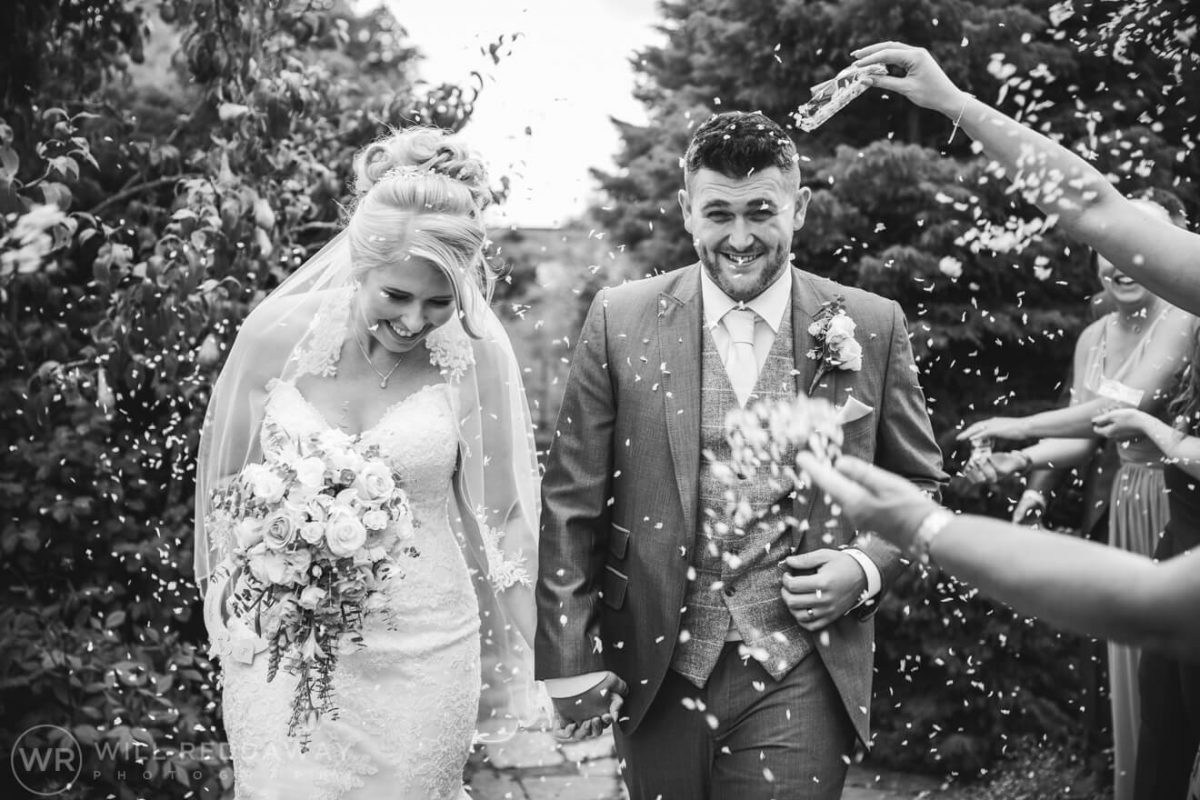 The Oak Barn Wedding | Devon Wedding Photographer | Confetti