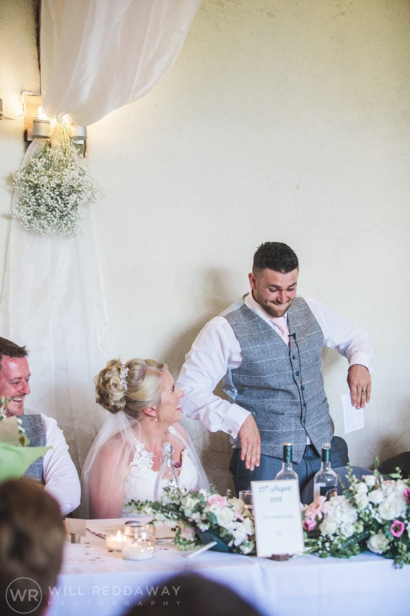 The Oak Barn Wedding | Devon Wedding Photographer | Speeches