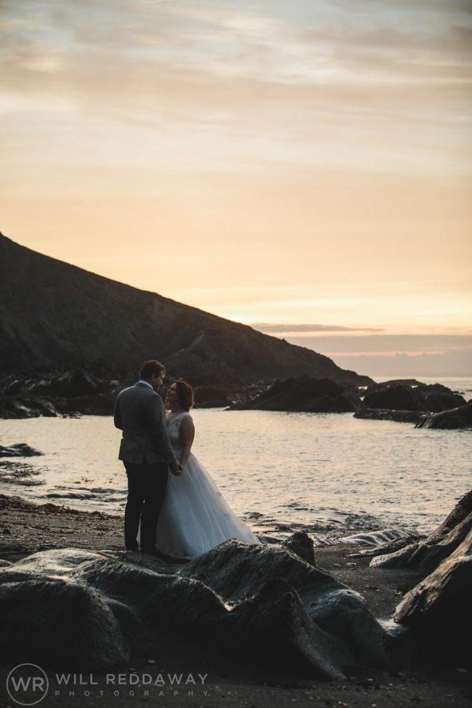 Tunnels Beaches Wedding | Devon Wedding Photographer | Bride & Groom