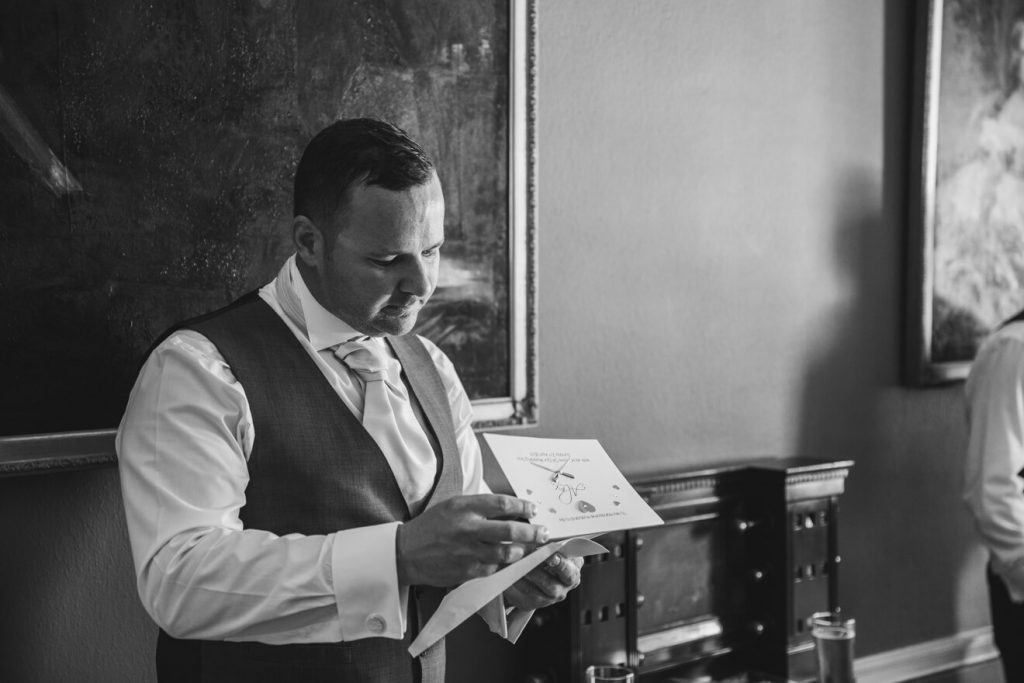 Rockbeare Manor Wedding | Devon Wedding | Groom Preparations