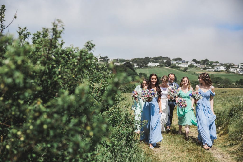 Polzeath Wedding | Cornwall Wedding Photographer | Bridal Party