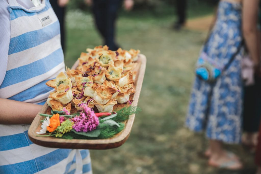 Polzeath Wedding | Cornwall Wedding Photographer | Canapes