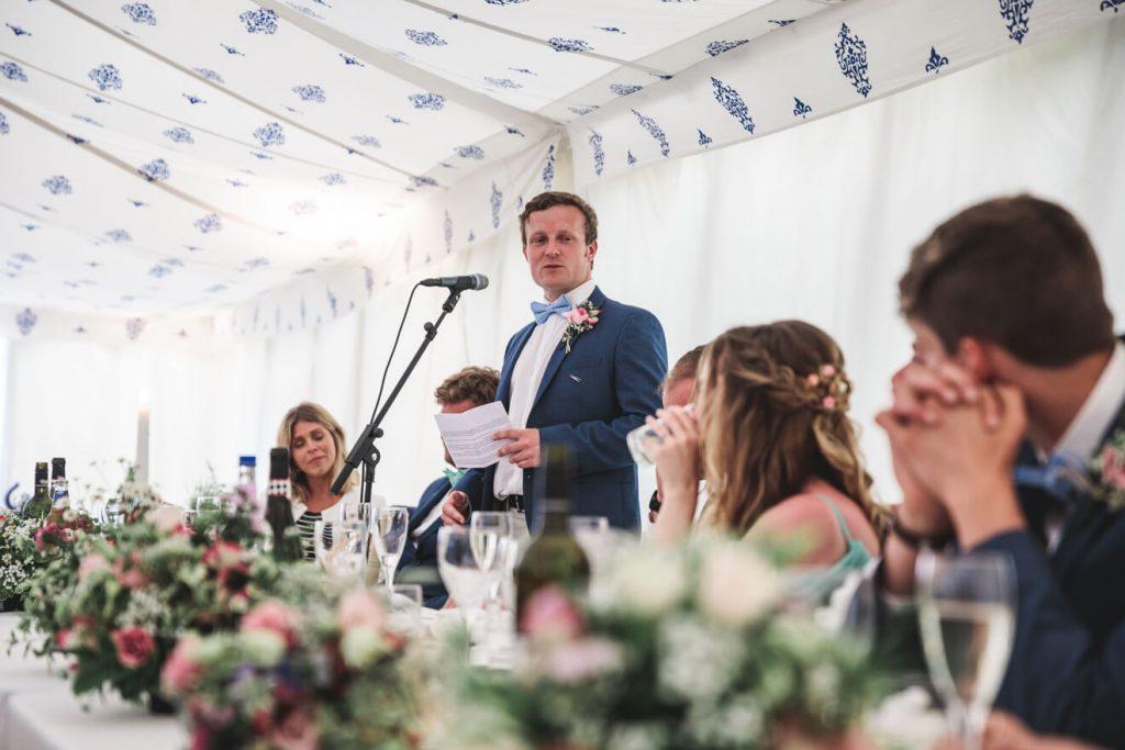 Polzeath Wedding | Cornwall Wedding Photographer | Speeches