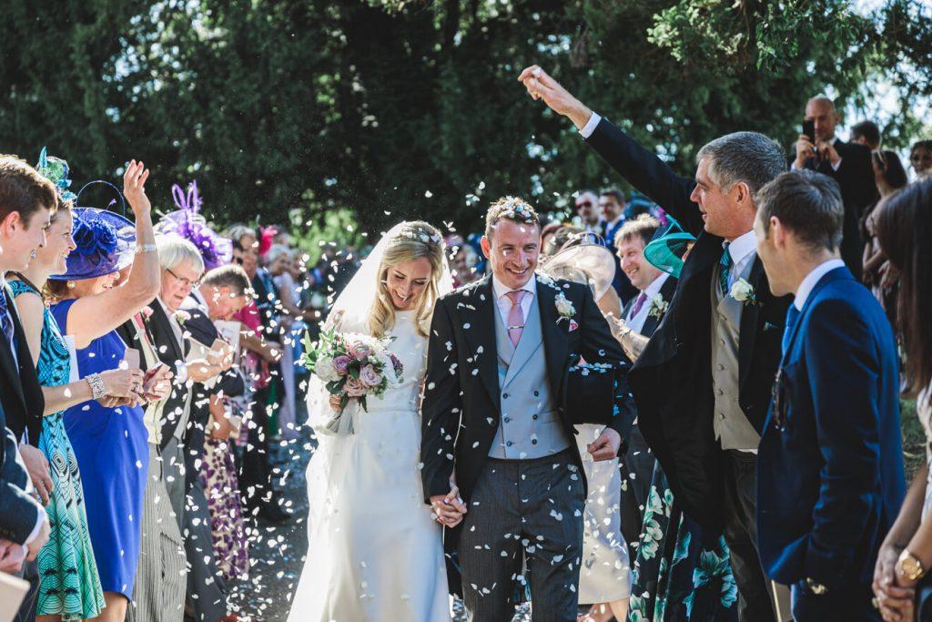 Hayley & Tom's Marquee Farm Wedding | Devon Wedding Photographer | Confetti