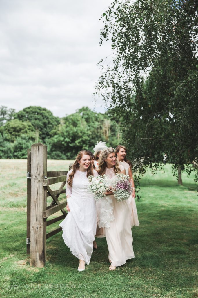 Farringdon Marquee Wedding   Devon Wedding Photographer   Bride & Bridesmaids