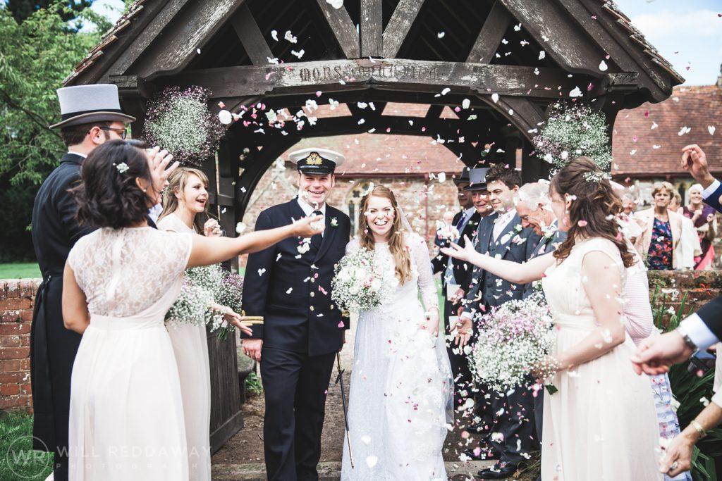 Farringdon Marquee Wedding   Devon Wedding Photographer   Confetti