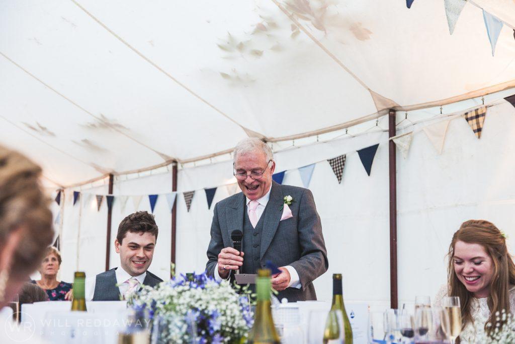 Farringdon Marquee Wedding   Devon Wedding Photographer   Father Of The Bride Speech
