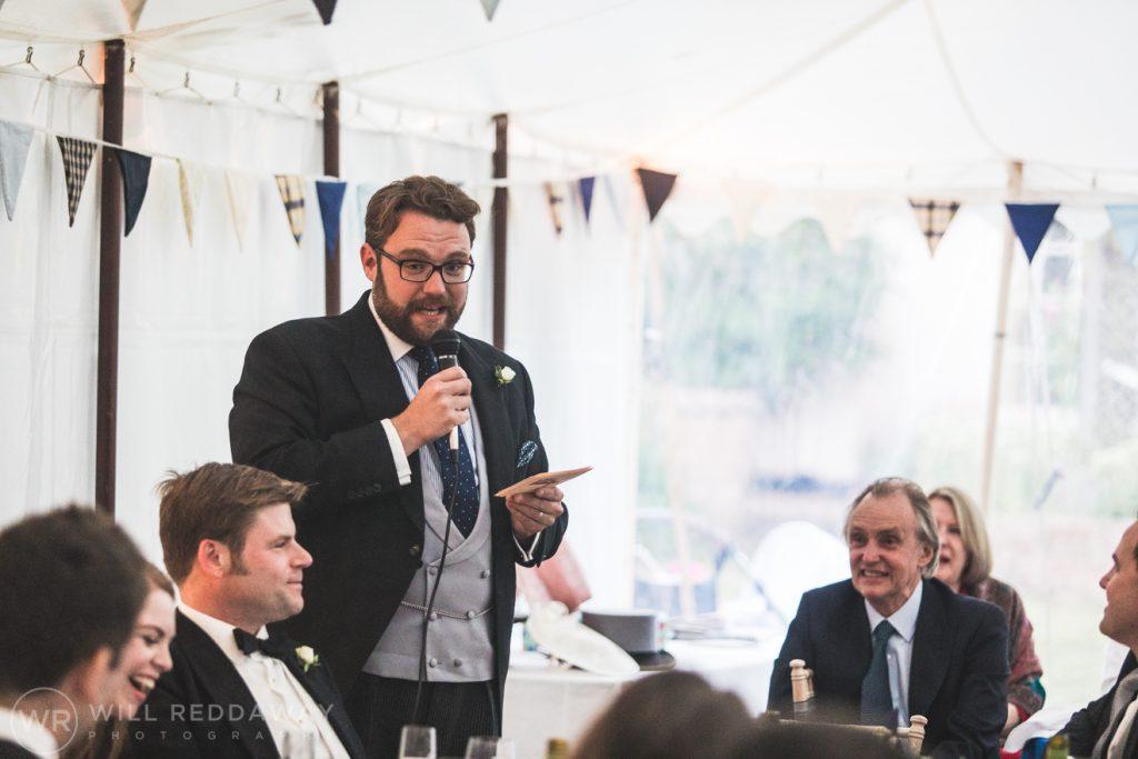 Farringdon Marquee Wedding   Devon Wedding Photographer   Bestman
