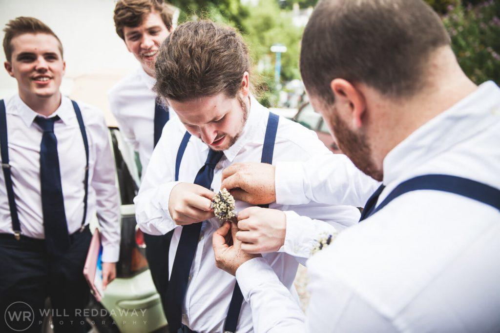 Brunel Manor Wedding  Devon Wedding Photographer   Groomsmen