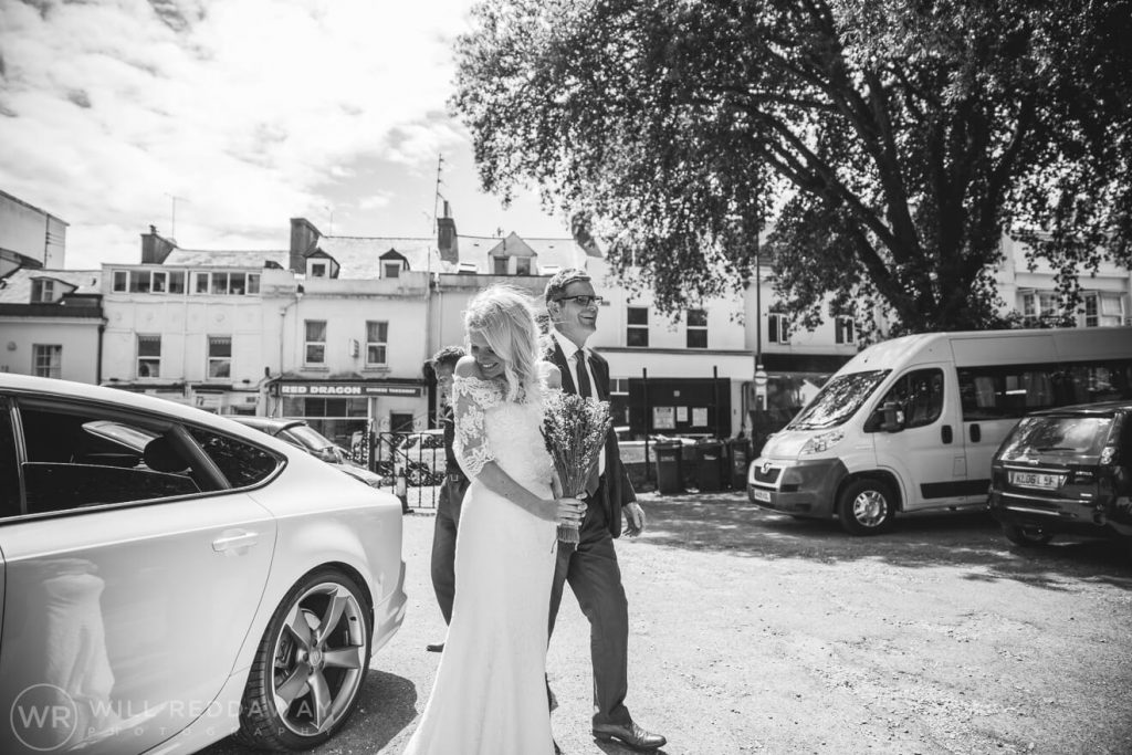 Brunel Manor Wedding  Devon Wedding Photographer   Bride & Father