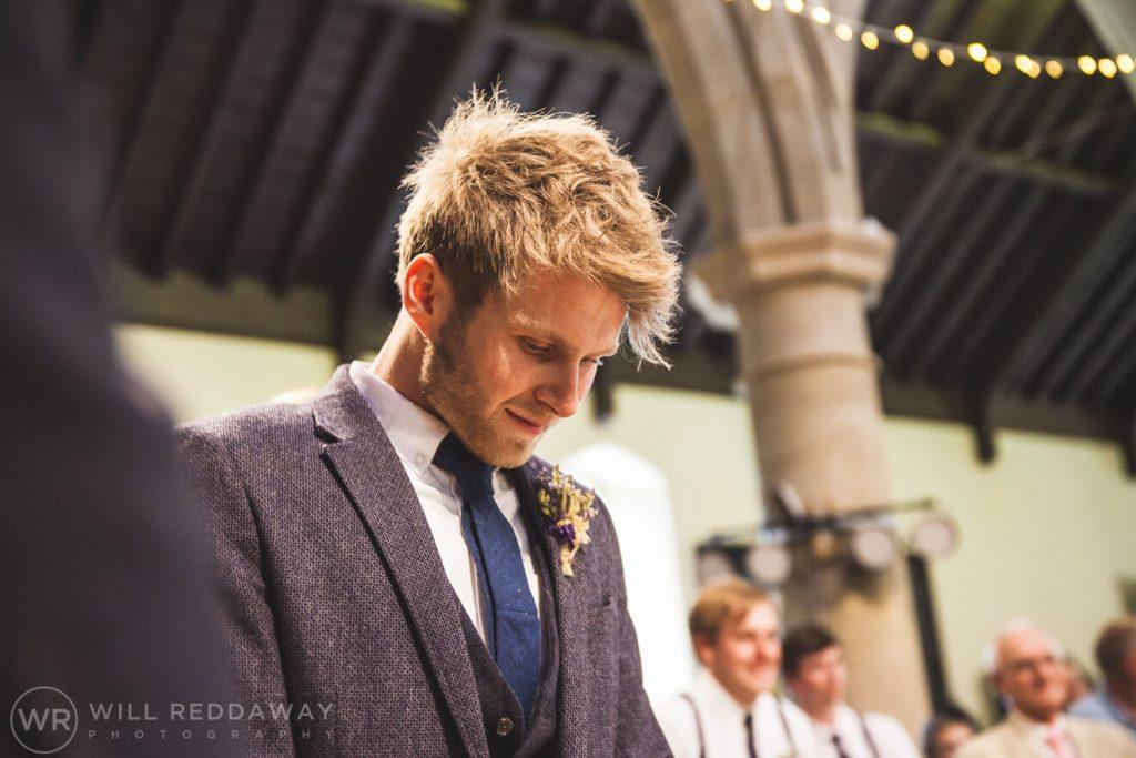 Brunel Manor Wedding  Devon Wedding Photographer   Groom