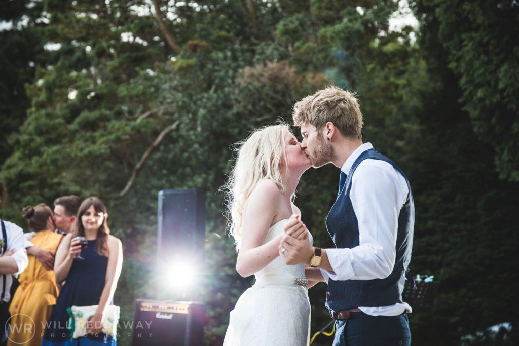 Brunel Manor Wedding   Devon Wedding Photographer   Outdoors First Dance