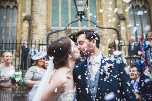 Dillington House Wedding | Devon Wedding Photographer | Confetti Kiss