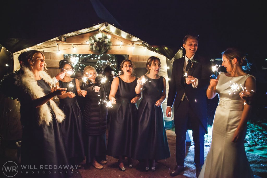 Farm Wedding | Devon Wedding Photographer | Wedding Sparklers