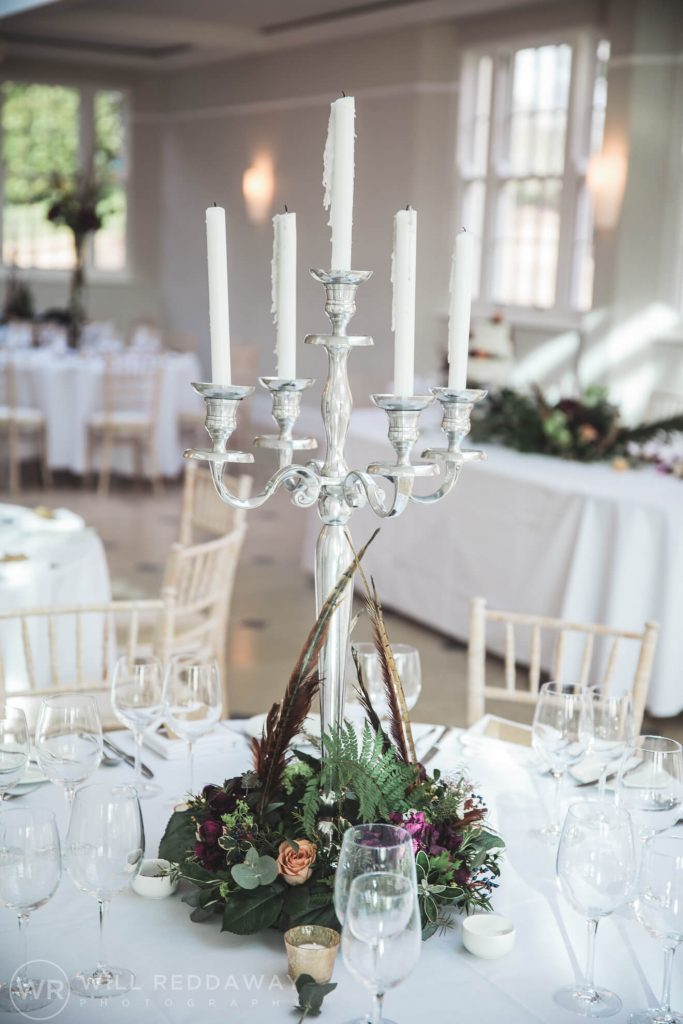 Rockbeare Manor Wedding | Devon Wedding Photographer | Table Decoration