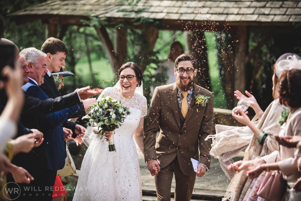 Deers Leap Retreat Wedding | Devon Wedding Photographer | Confetti