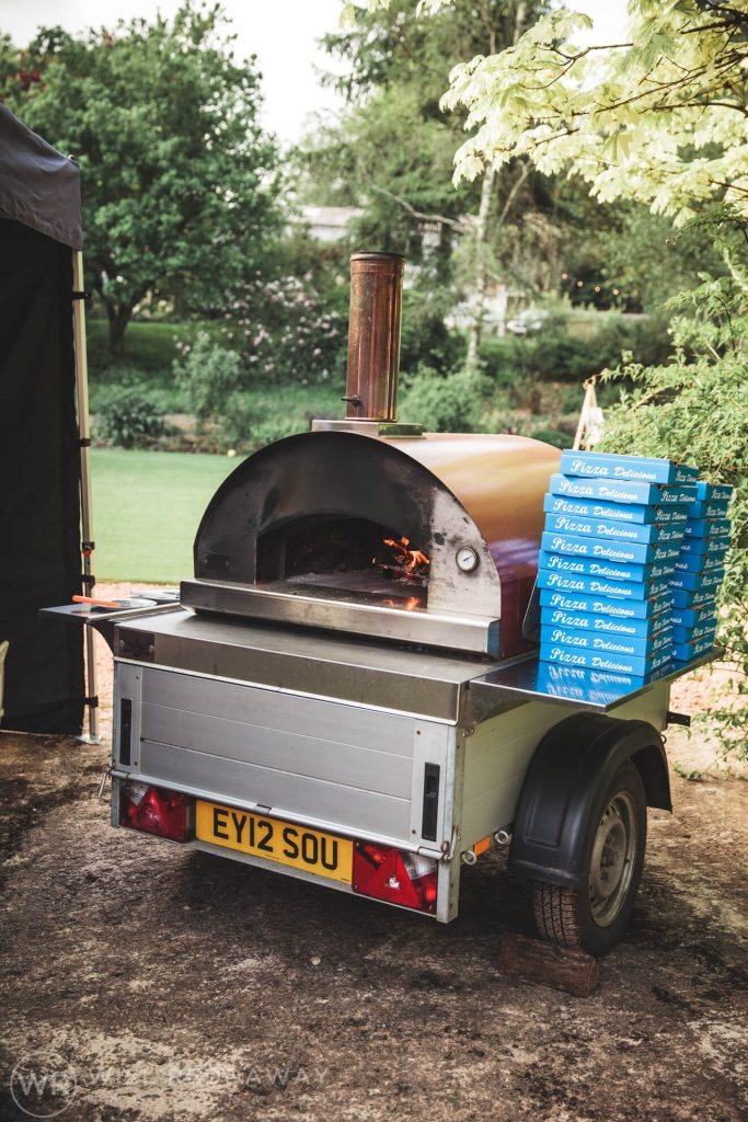 Deers Leap Retreat Wedding | Devon Wedding Photographer | Flaming Good Pizza