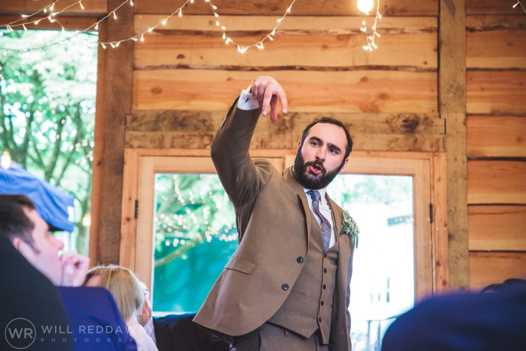 Deers Leap Retreat Wedding | Devon Wedding Photographer | Wedding Speeches