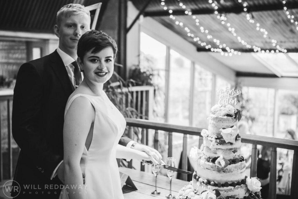 The Stone Barn Wedding   Cheltenham Wedding Photographer   Cake Cutting