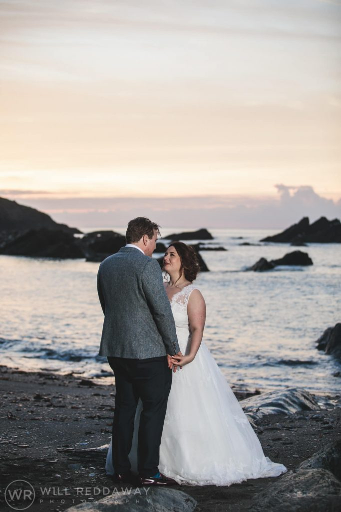 Tunnels Beaches Wedding | Devon Wedding Photographer | Bride & Groom