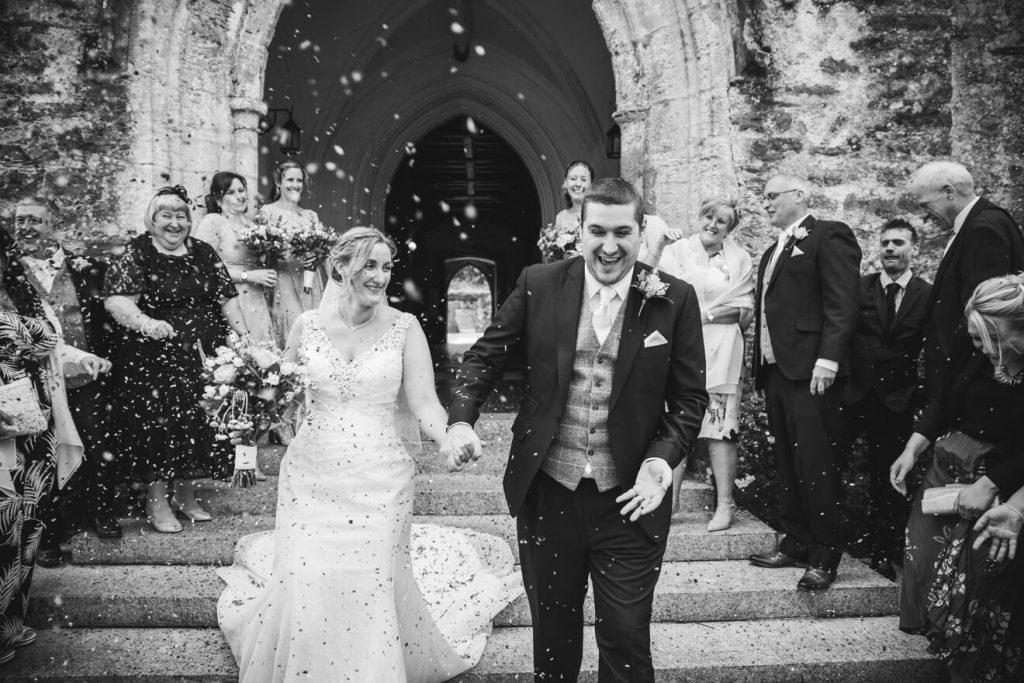 Dartington Hall Wedding | Devon Wedding Photographer | Confetti