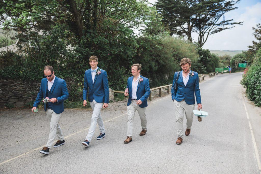 Polzeath Wedding   Cornwall Wedding Photographer   Groomsmen
