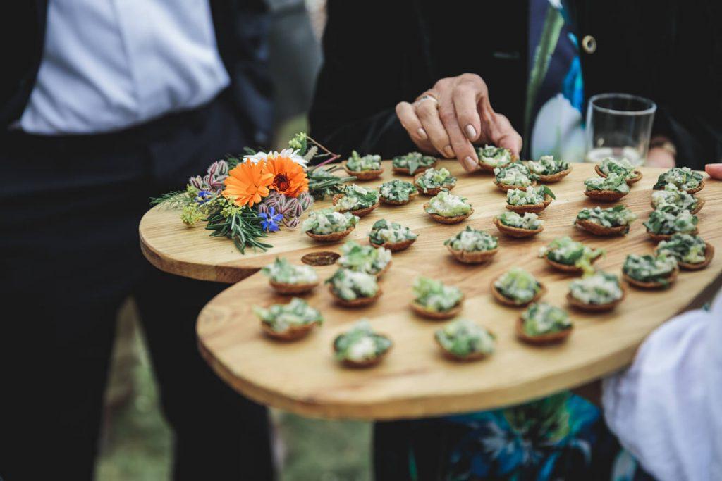 Polzeath Wedding   Cornwall Wedding Photographer   Canapes
