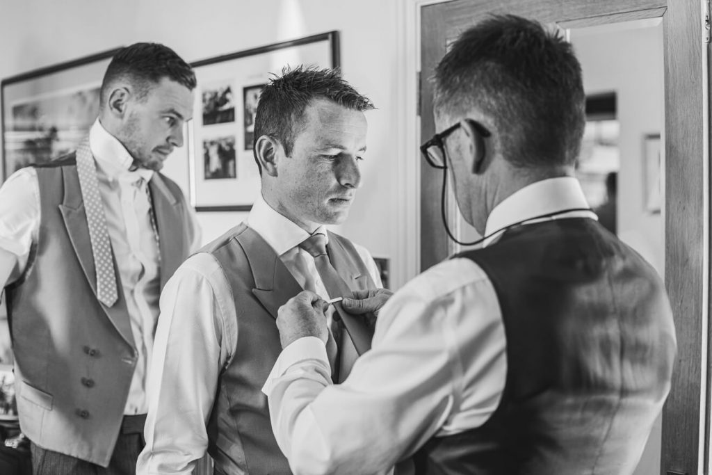 Hayley & Tom's Marquee Farm Wedding | Devon Wedding Photographer | Groom Preparations