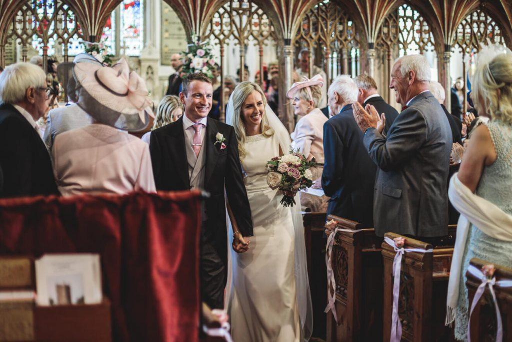 Hayley & Tom's Marquee Farm Wedding | Devon Wedding Photographer | Church Ceremony